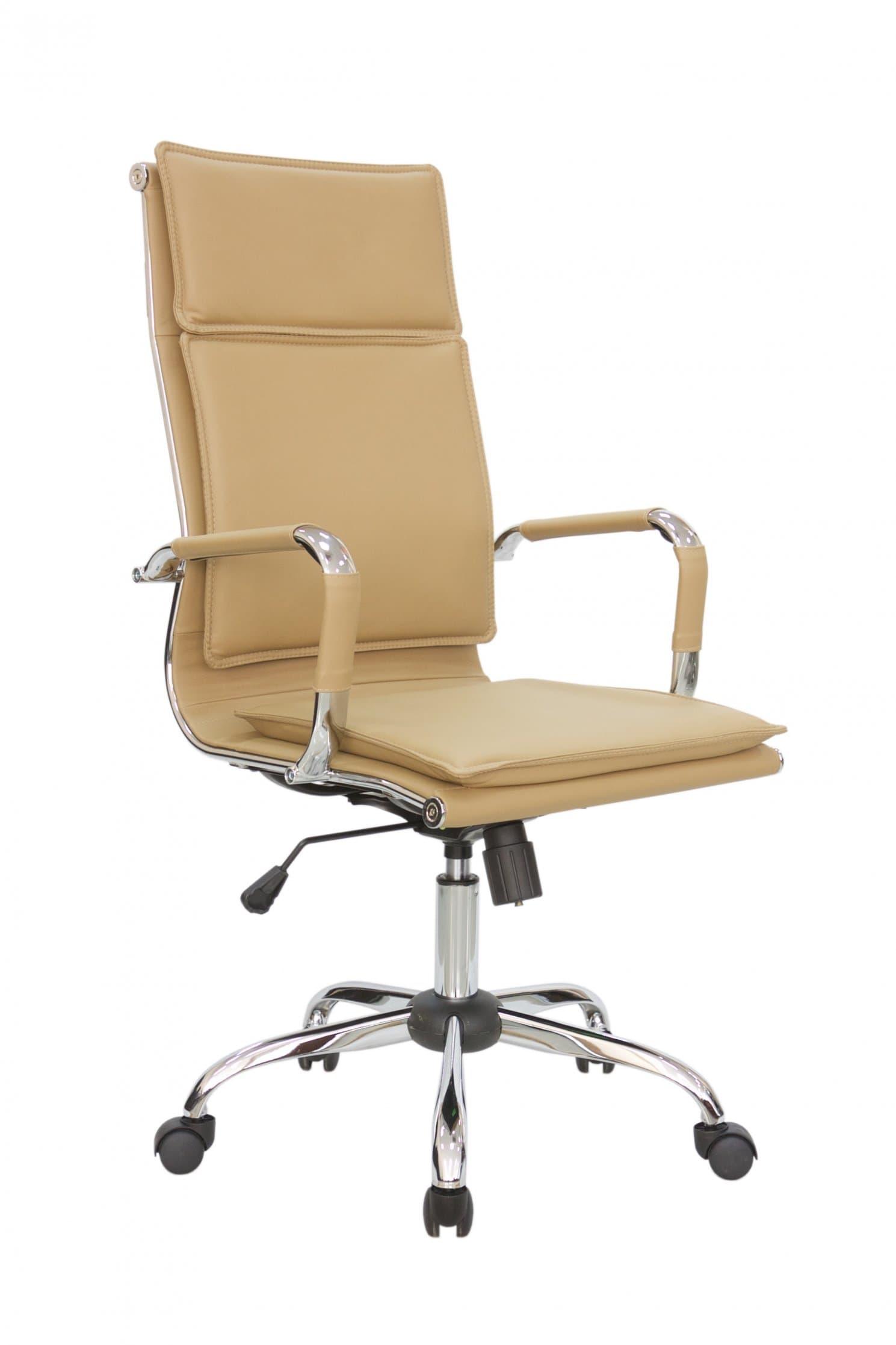 Кресло для руководителя Riva Chair 6003-1 Кэмел цвет, эко кожа