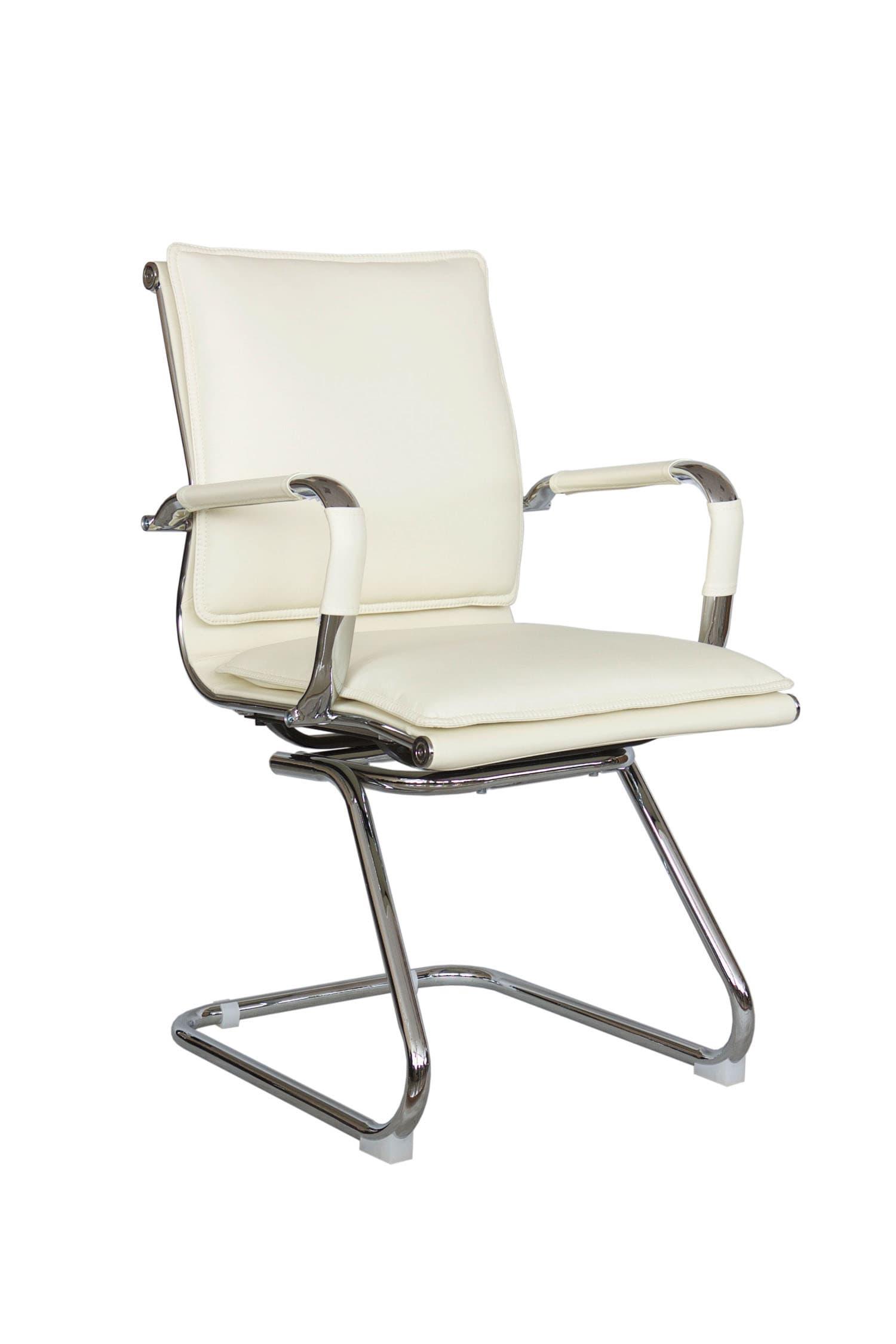 Конференц кресло с подлокотниками Riva Chair 6003-3 Бежевый цвет, эко-кожа
