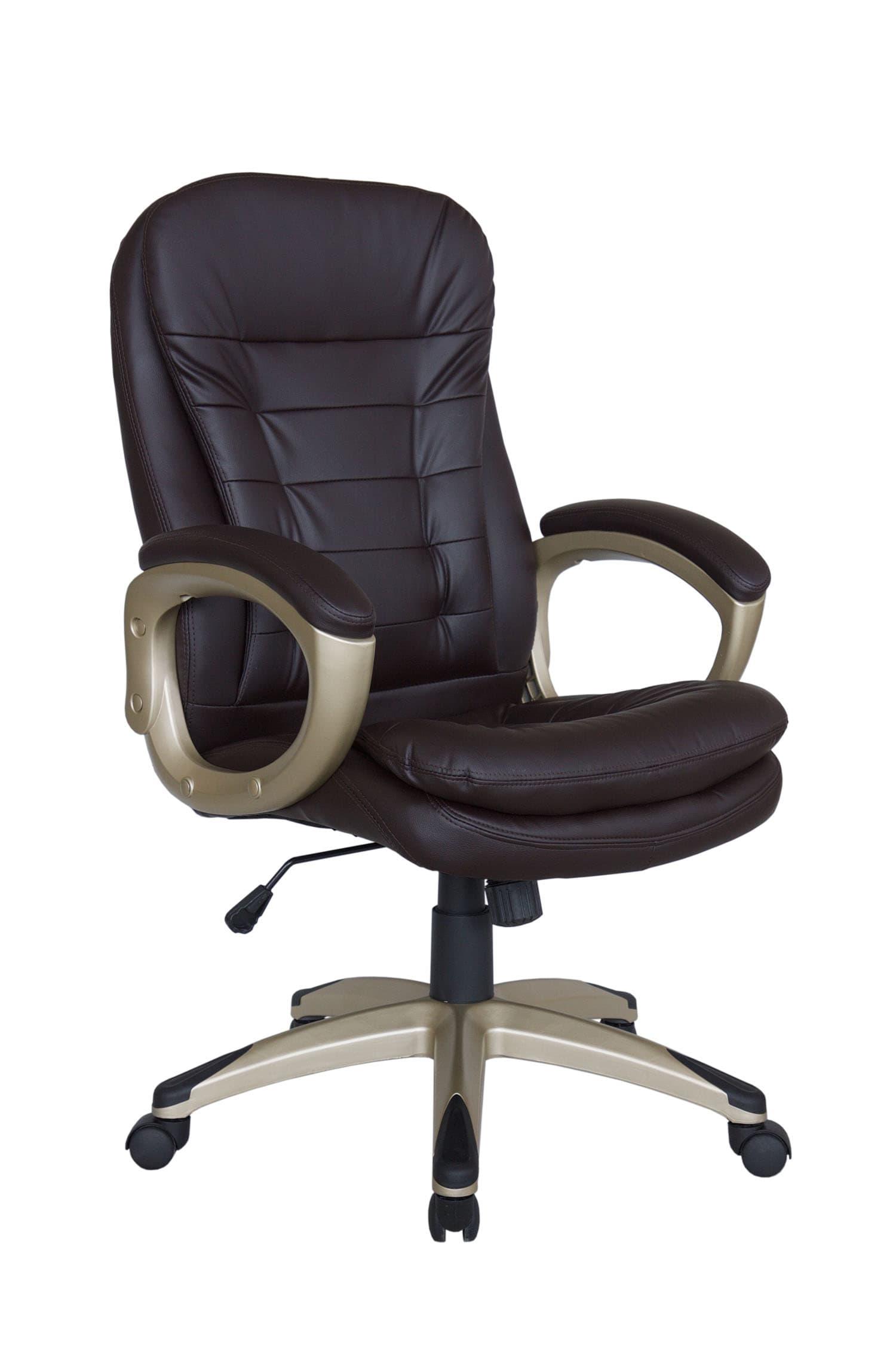 Кресло для руководителя Riva Chair 9110 Коричневый цвет, эко кожа
