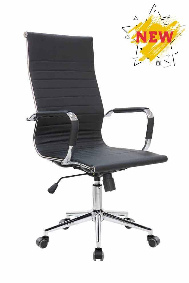 Кресло для руководителя Riva Chair 6002-1 S Черный цвет, эко кожа