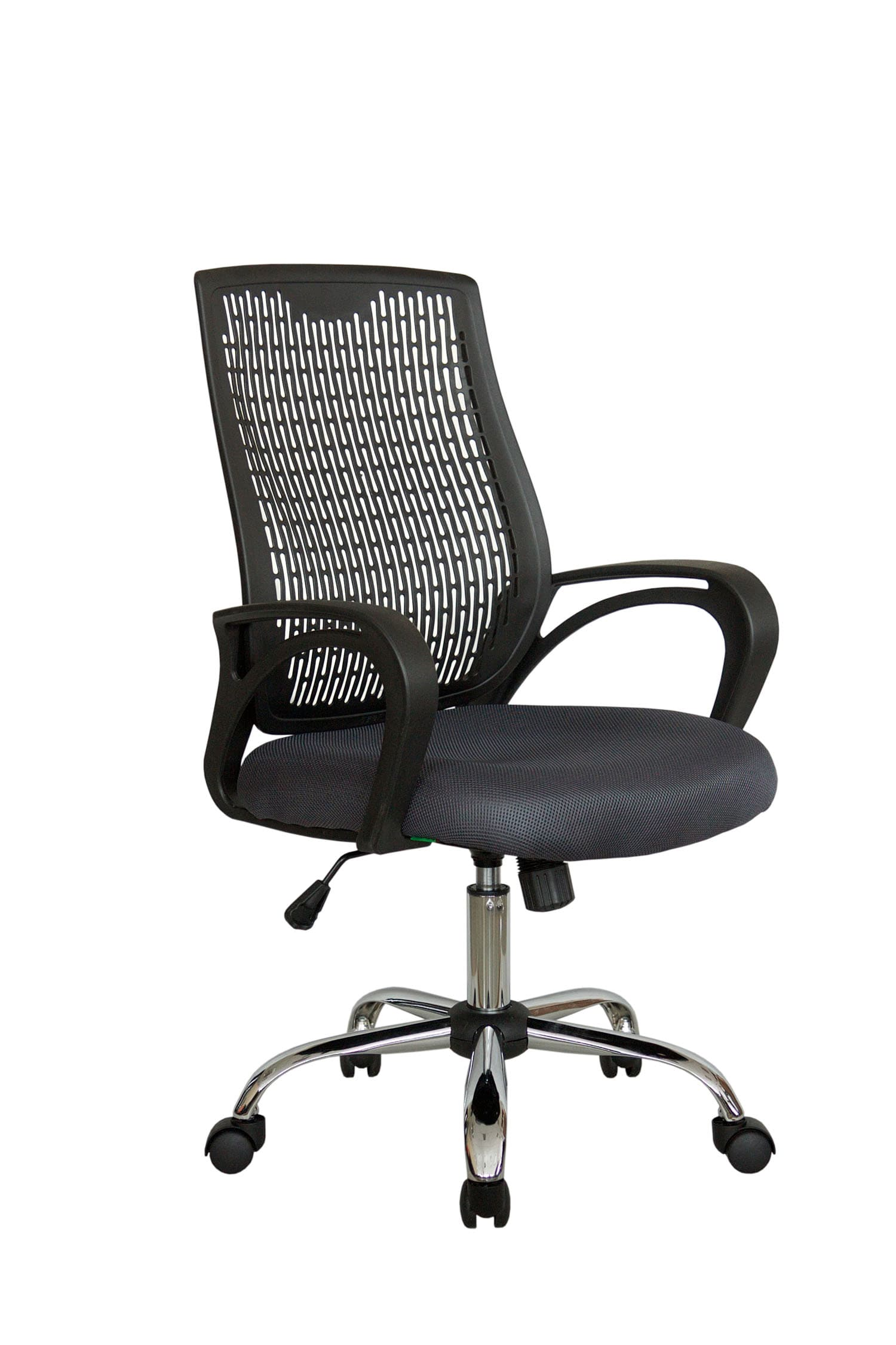 Кресло компьютерное Riva Chair 8081 Серый цвет, ткань/пластик